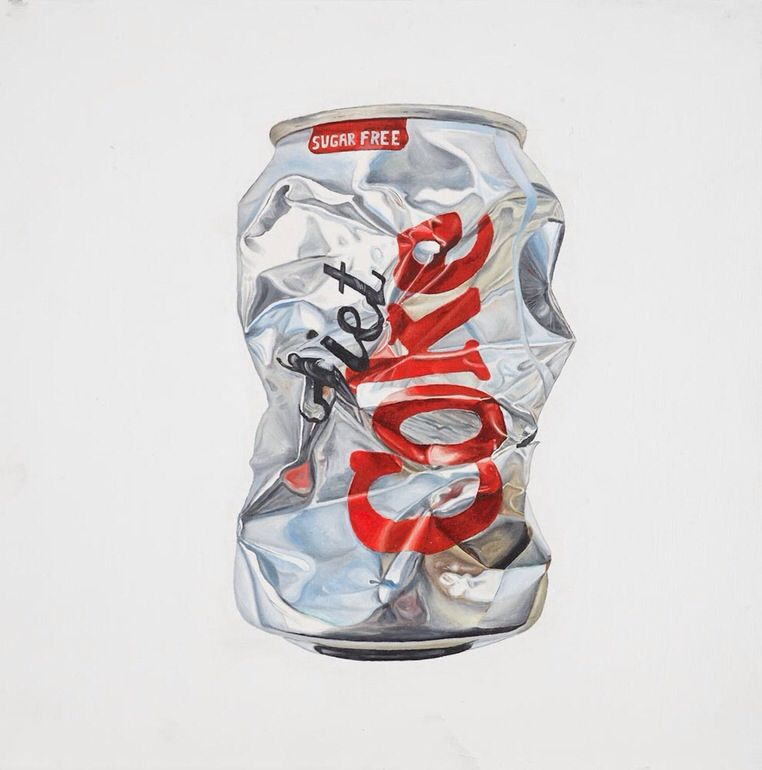 Crushed Coke Can Painting
