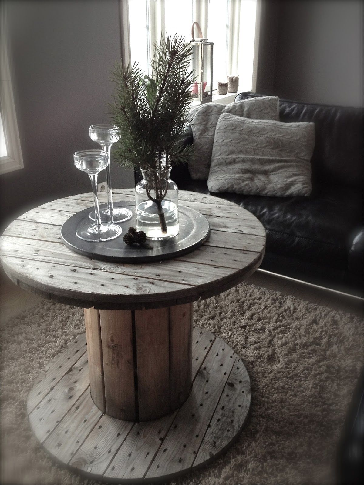 Cablespool Table Left In The Weathered Gray Look Love It