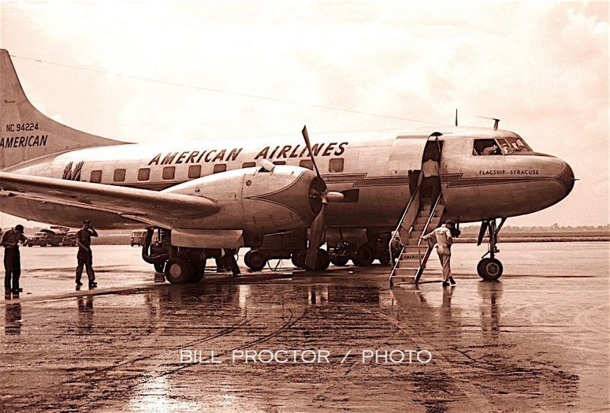 CV240 NC94224 MDW 1948 American airlines, Chicago