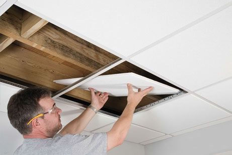 Here Are Diy Instructions On How To Install An Armstrong Suspended Ceiling Quickly And Easily Along With More Installation Guides