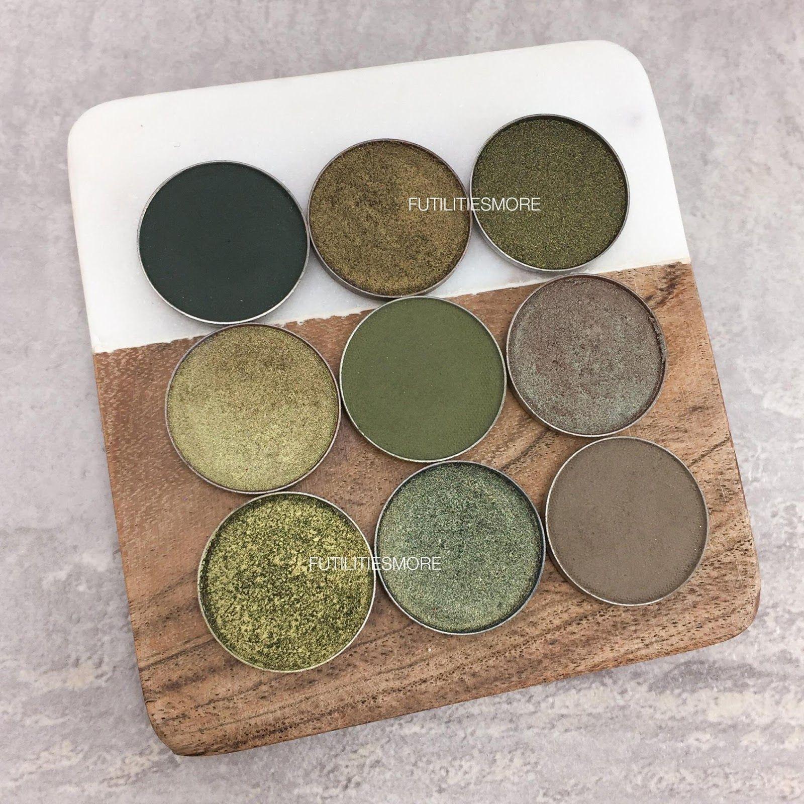 Olive Green Eyeshadows By Makeup Geek Cosmetics Makeup Geek Cosmetics Green Eyeshadow Makeup Geek