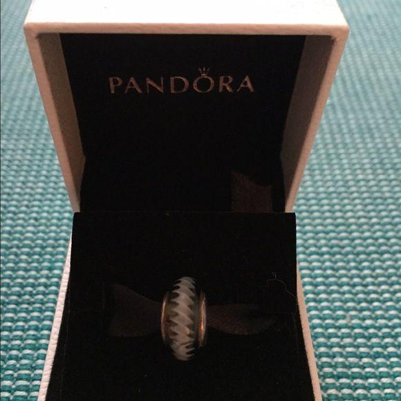 Pandora Black Zig Zag charm Retired Pandora Jewelry Bracelets
