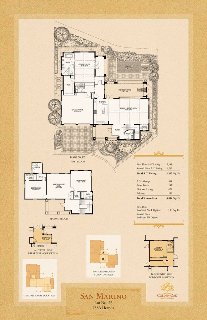 Golden Oak Lot 26 San Marino Disney Golden Oak Golden Oak Mansion Plans