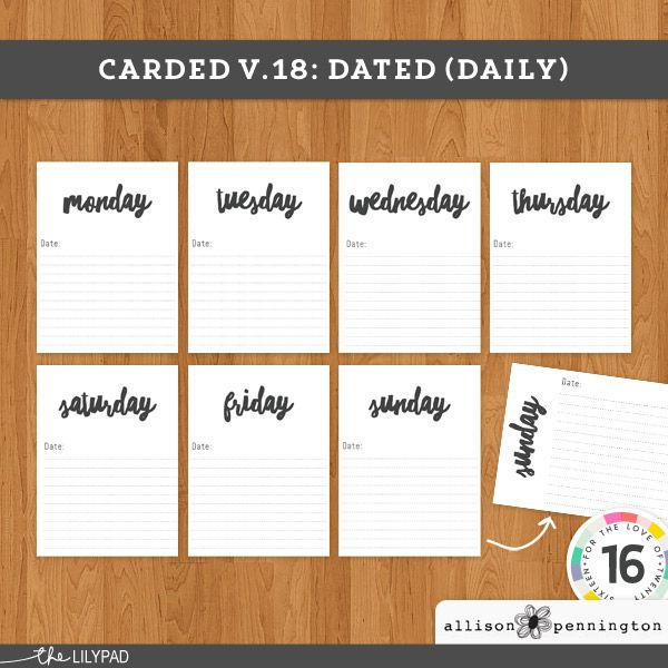Carded v.18: Dated (Daily)