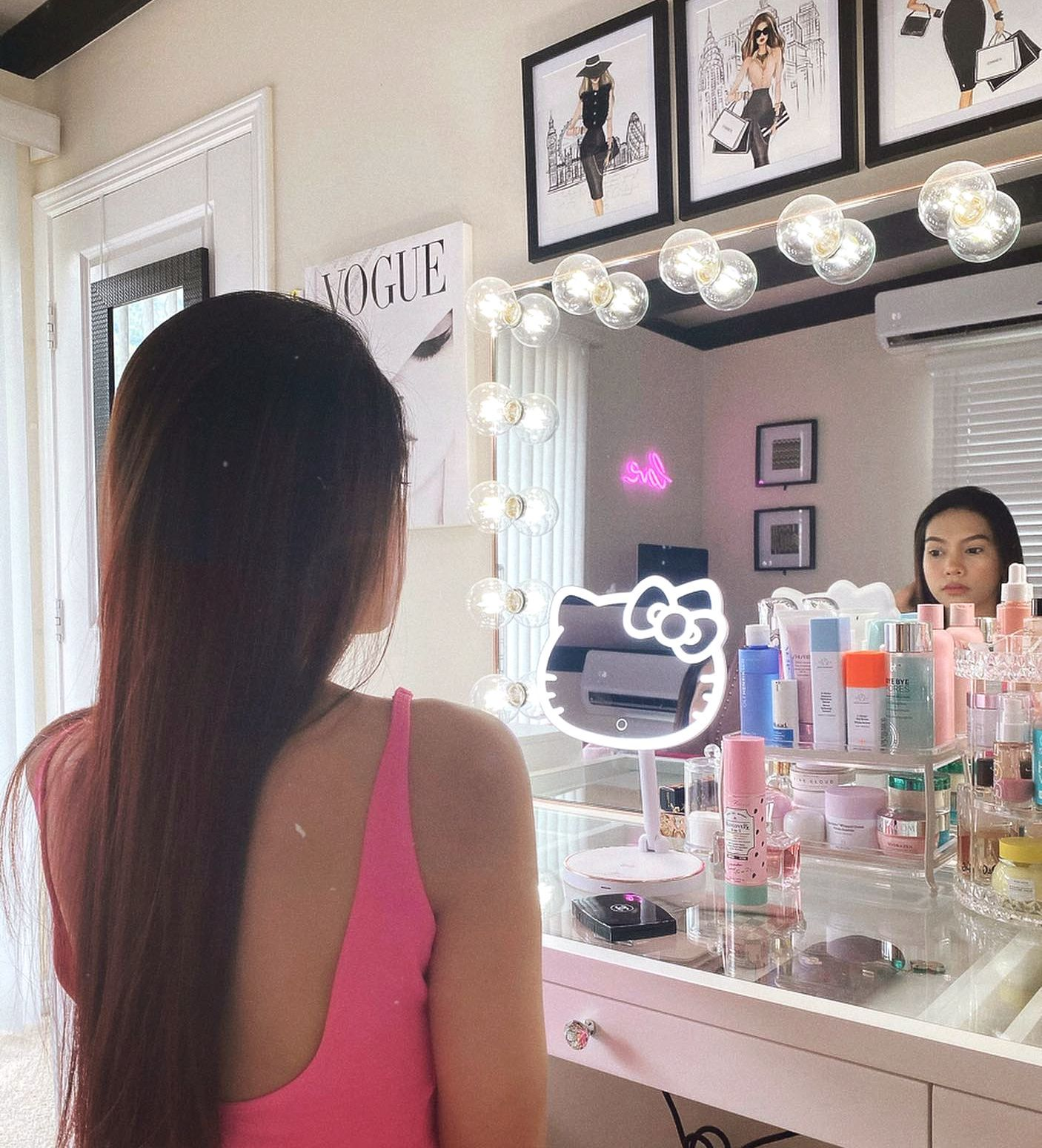 Hello Kitty Led Rechargeable Makeup Mirror In 2020 Impressions