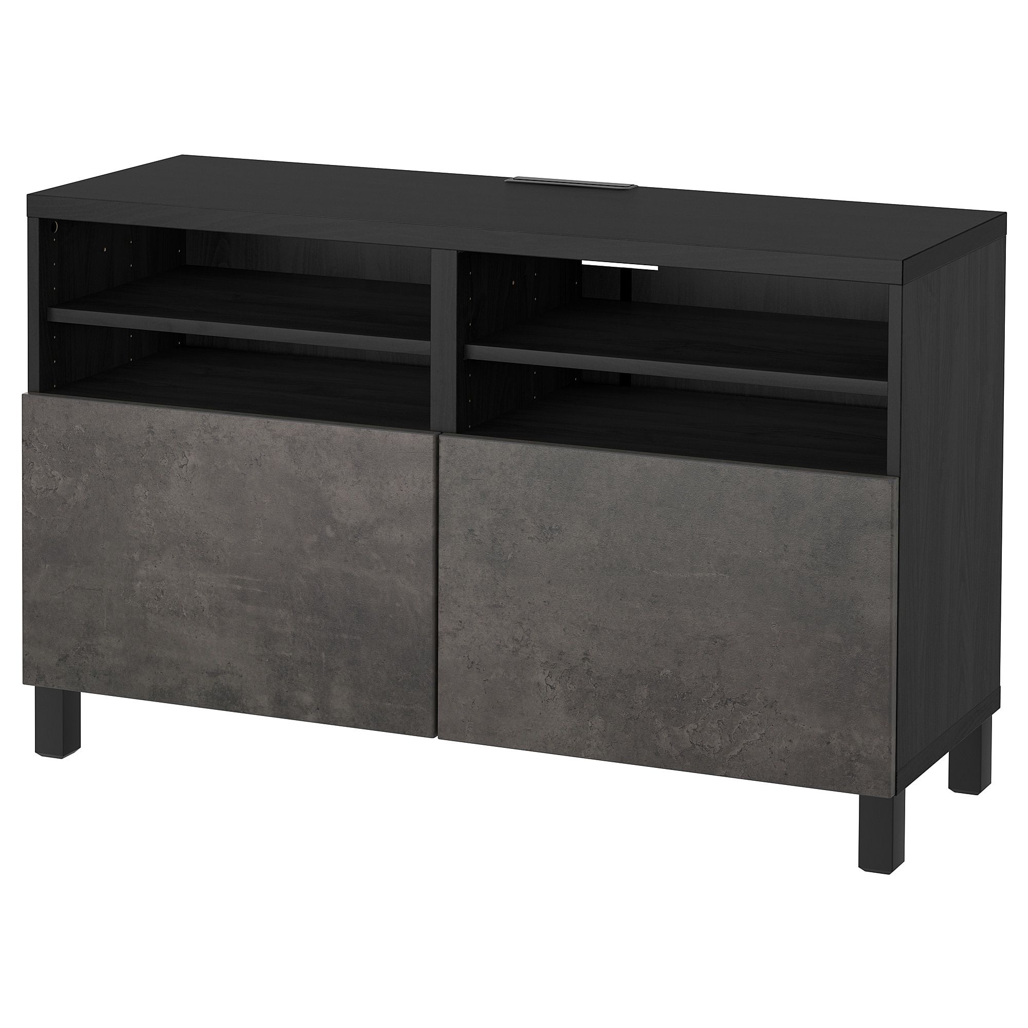 Bahut Noir Ikea BestÅ Tv Unit With Doors Black Brown Kallviken Stubbarp Dark