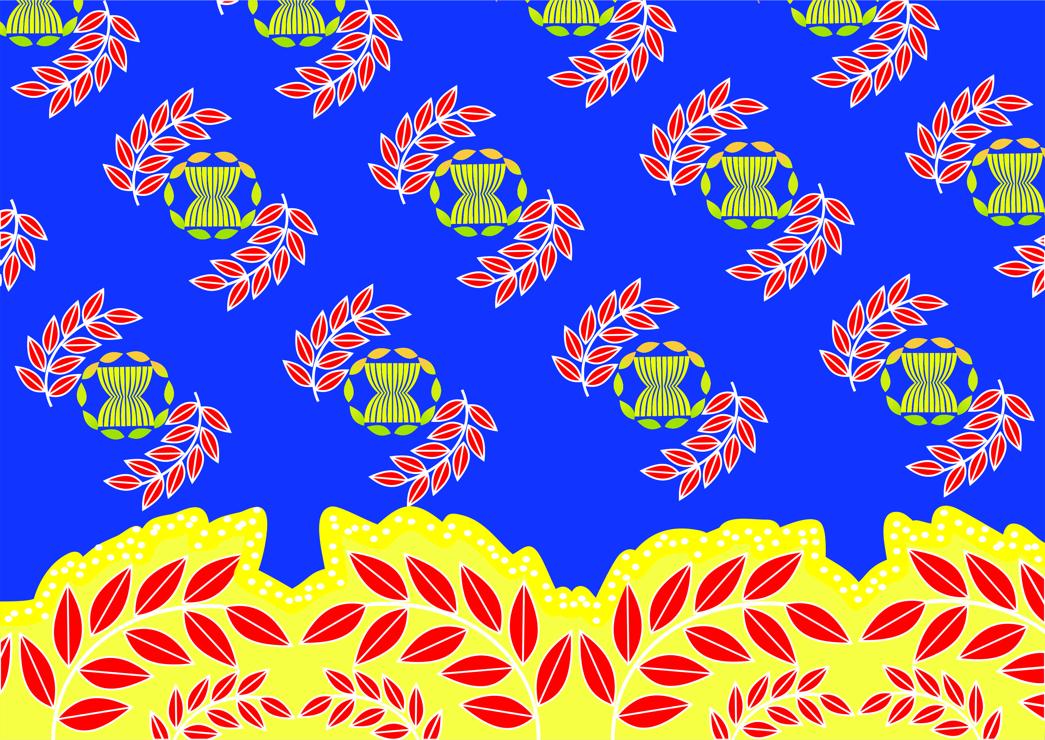 desain batik by Fatimah untuk lomba batik ASEAN 2015 | Desain