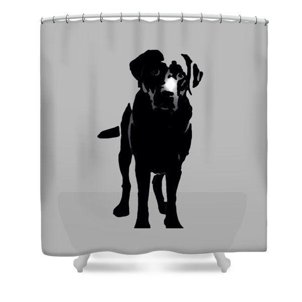 Designer Shower Curtain Dog Bathroom Decor Labrador Lab Accessories