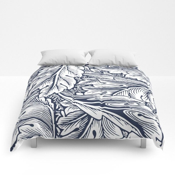 Navy Comforter Blue Duvet Cover Full Queen King Vintage Scrollwork Bedding Leafy Duvet Blue White Bedroom Navy Duvet Covers Blue Duvet Cover Navy Duvet