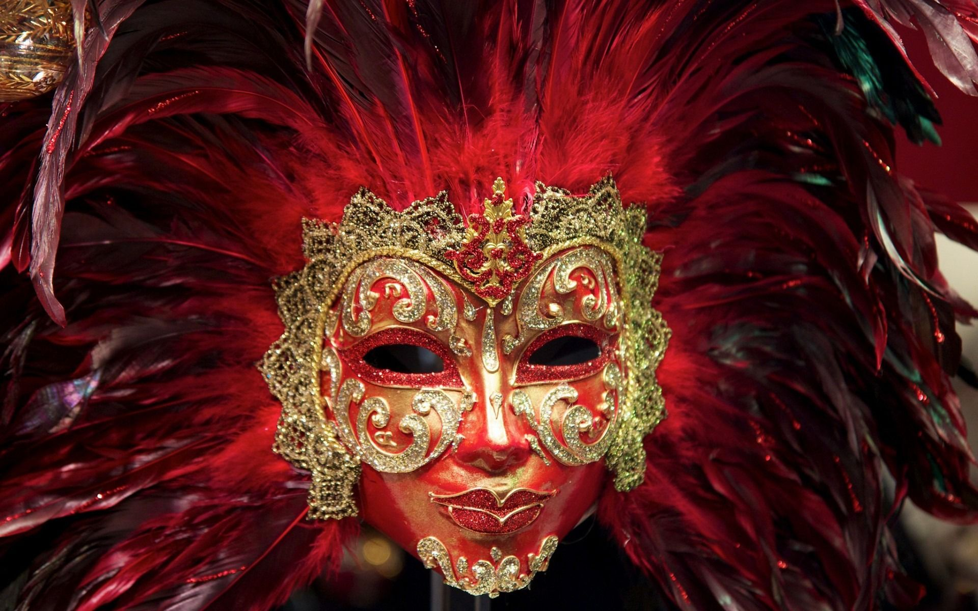 Feather carnival mask 1920x1200 wallpaper venice - Carnival wallpaper ...