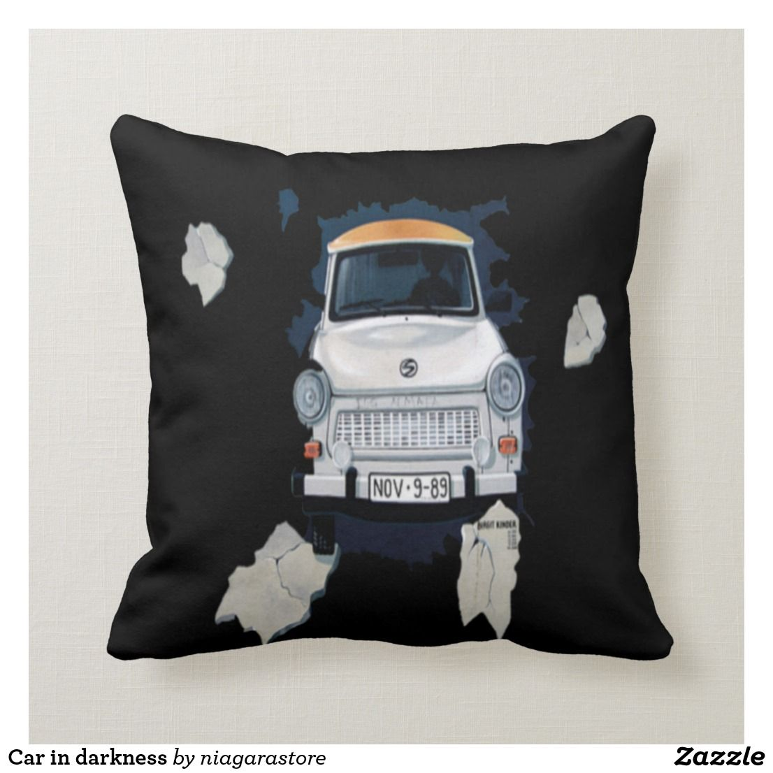 Car In Darkness Throw Pillow Zazzle Com Throw Pillows Pillows