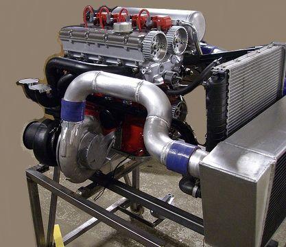 16 valve drag race engine. Supposed to generate around