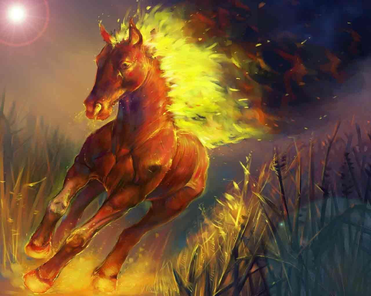 Fire Horse Fire Horse Wallpaper Hd 12330 Hd Wallpapers Fire Horse Fire Art Horse Wallpaper