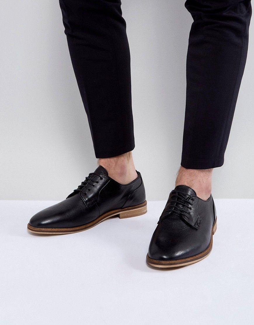 Chaussures Derby Asos En Cuir Beige Avec De La Dentelle Marine De Contraste - Tan EihSms