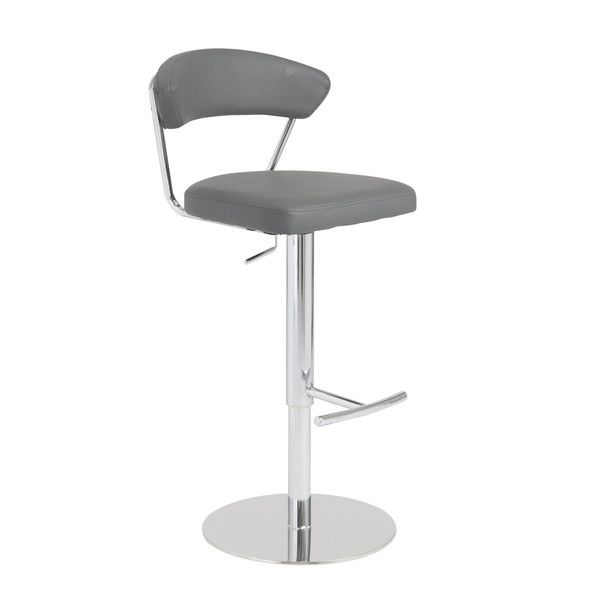 Super Euro Style Draco Adjustable Bar Counter Stool In Gray Chrome Evergreenethics Interior Chair Design Evergreenethicsorg