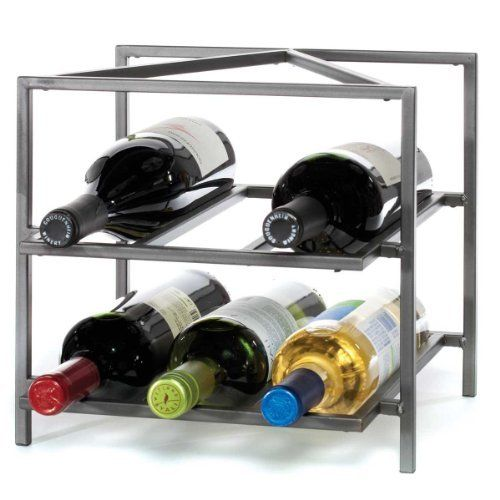 Oenophilia Trifecta Wine Rack By Oenophilia 30 00 Holds 6 Bottles 11 Inch In Height By 12 Inch In Width By 10 5 In Wine Rack Wine Rack Wall Metal Wine Rack