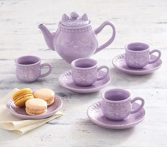 Ceramic Kitty Tea Set Pottery Barn Kids Kidstoykitchen