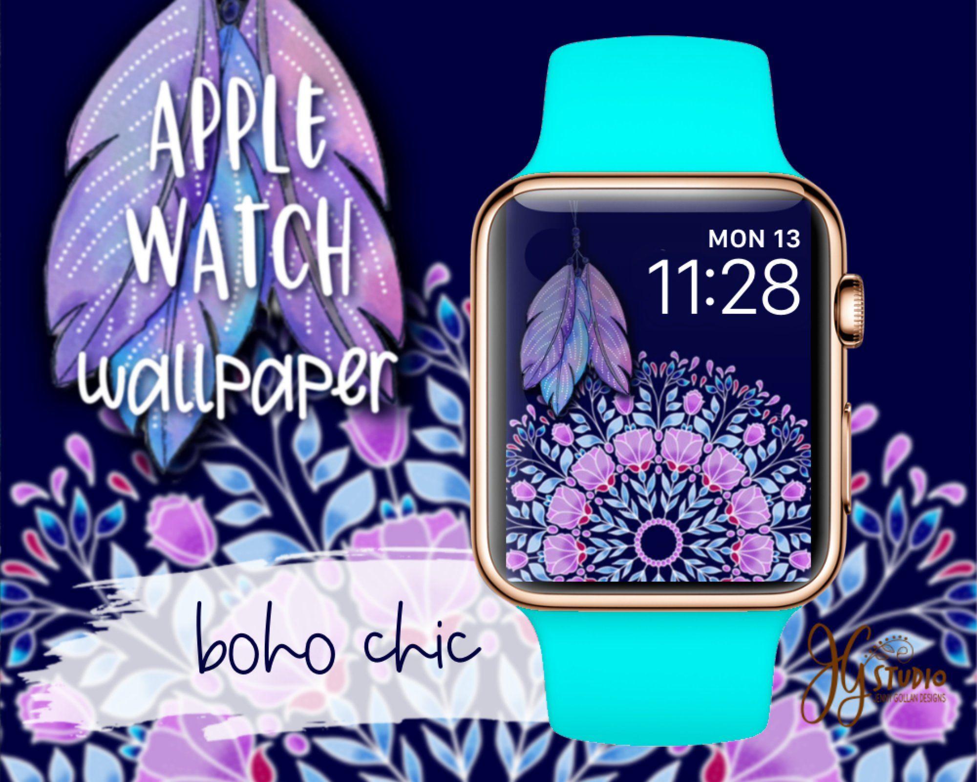 Apple Watch Wallpaper Boho Chic Apple Watch Face Applewatch Applewatchwallpaper Boho Mandala Bohofeath Apple Watch Faces Apple Watch Apple Watch Wallpaper Iwatch apple watch face wallpaper hd