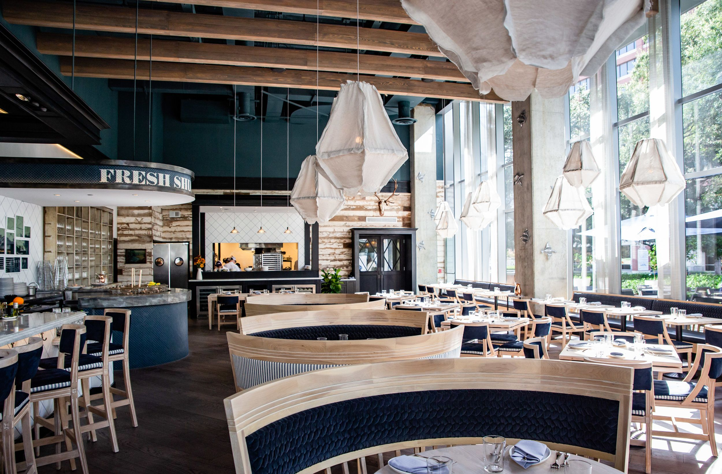 Eunice Restaurant, Open concept kitchen, Private dining room
