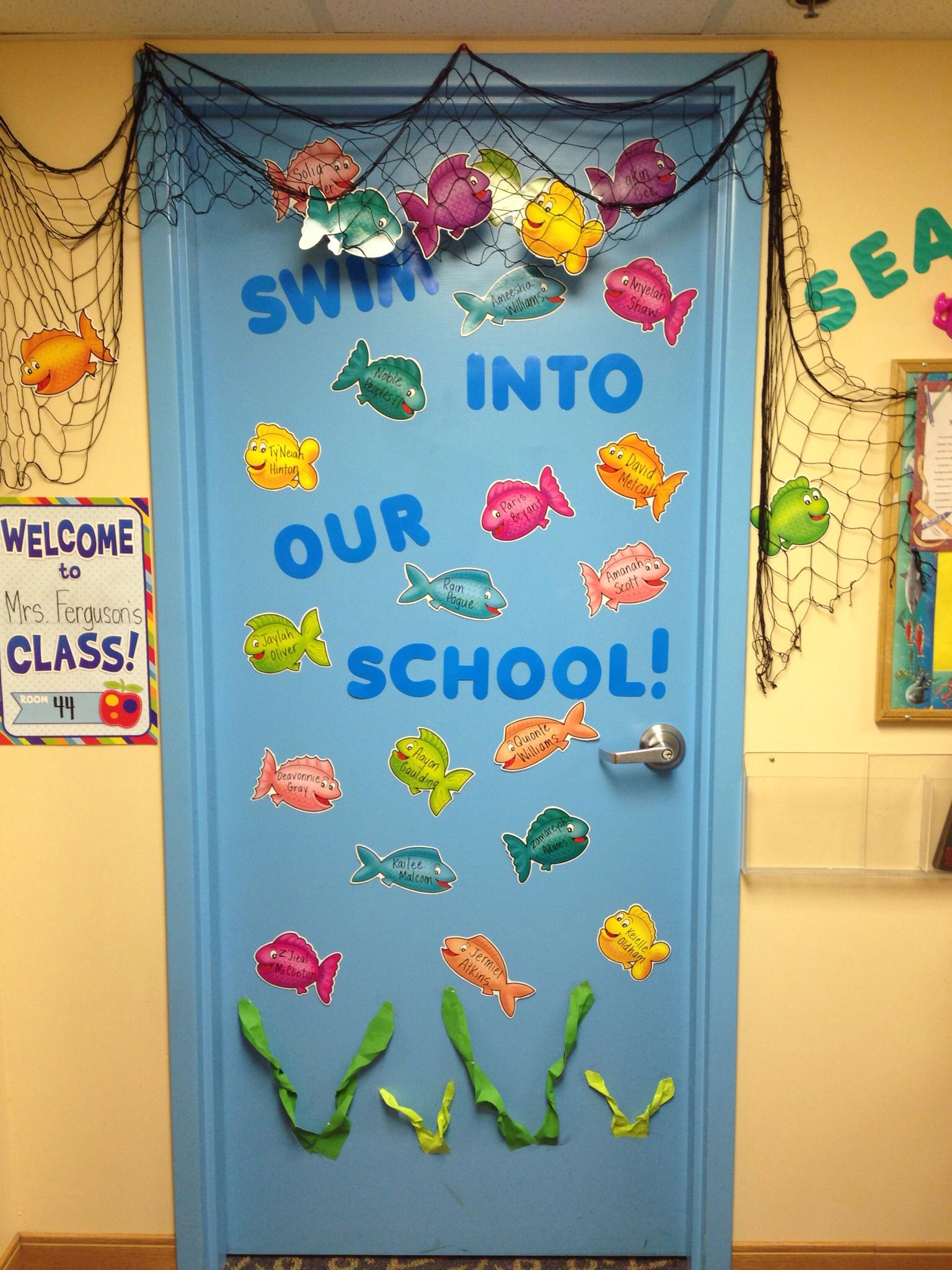 Under The Sea Classroom Door