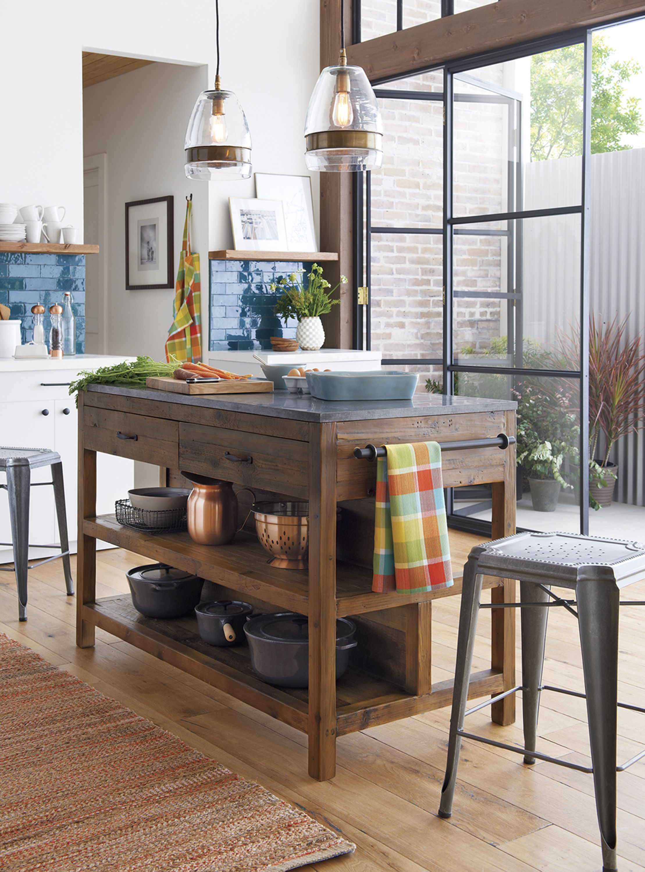 Top 29 Diy Ideas Adding Rustic Farmhouse Feels To Kitchen: Like A Treasured Vintage Find Or A Custom-designed Piece, This Elegant Kitchen Island Serves