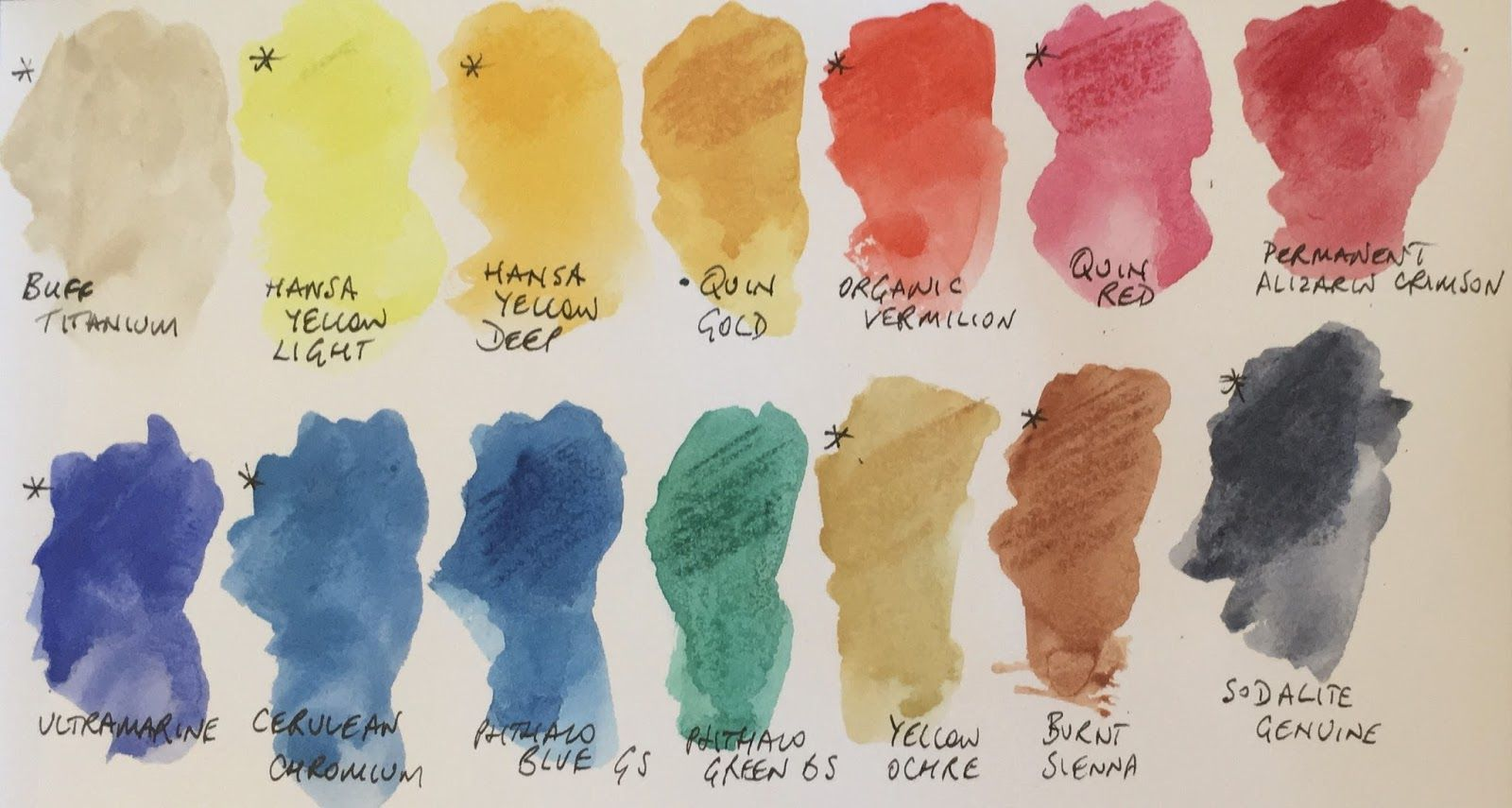 Watercolour Sticks From Daniel Smith Watercolor Color Mixing