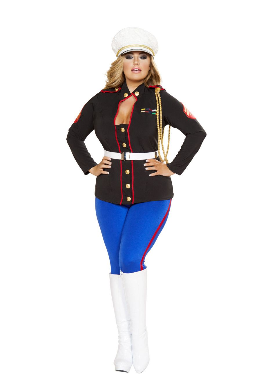 Sexy Marine Corporal Plus Size Costume  sc 1 st  Pinterest & Sexy Marine Corporal Plus Size Costume | Sexy Army Police Woman ...