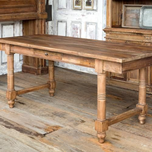 The Sophia Reclaimed Pine Farm Table With Drawers images