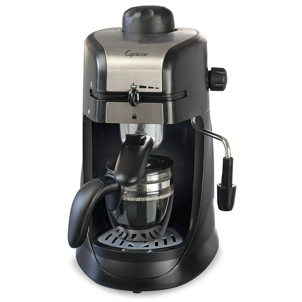 Capresso 4 Cup Espresso & Cappuccino Machine Black 303.01