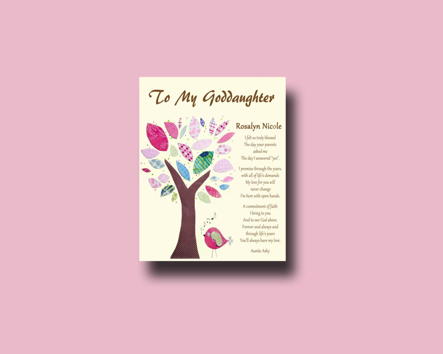 Goddaughter gift Gift for Goddaughter by BoutiqueBlu on Etsy | Kids ...