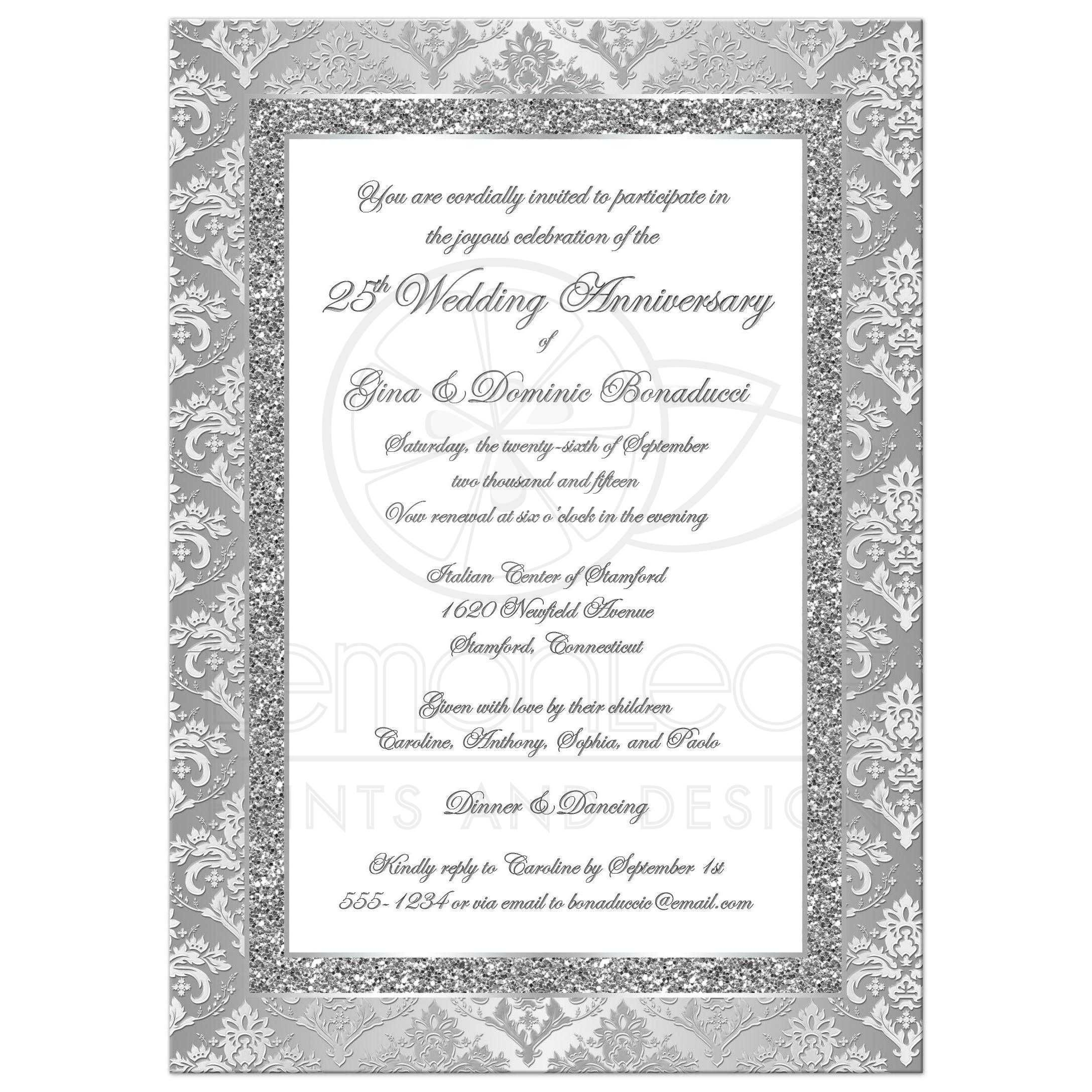 19 Best Of Invitation Card For Silver Jubilee Wedding Anniversary