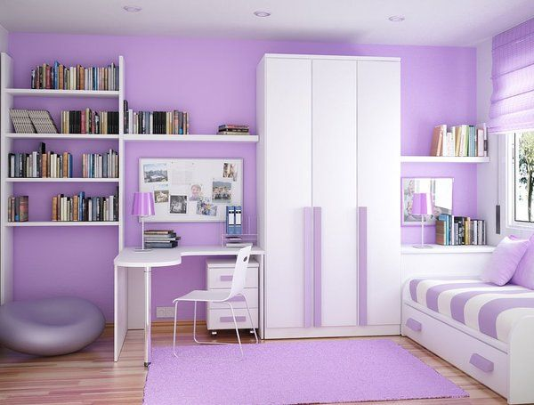 Charming Girls Two Tone Purple Bedroom Ideas | The Girls Room Purple Room Idea For  Kids, Bedroom Designs Small Rooms .