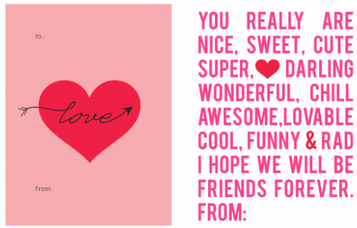 Generous Print Out Valentines Day Cards Photos - Valentine Ideas ...