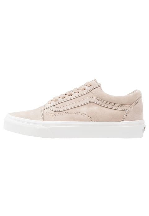 vans old skool trainers in beige