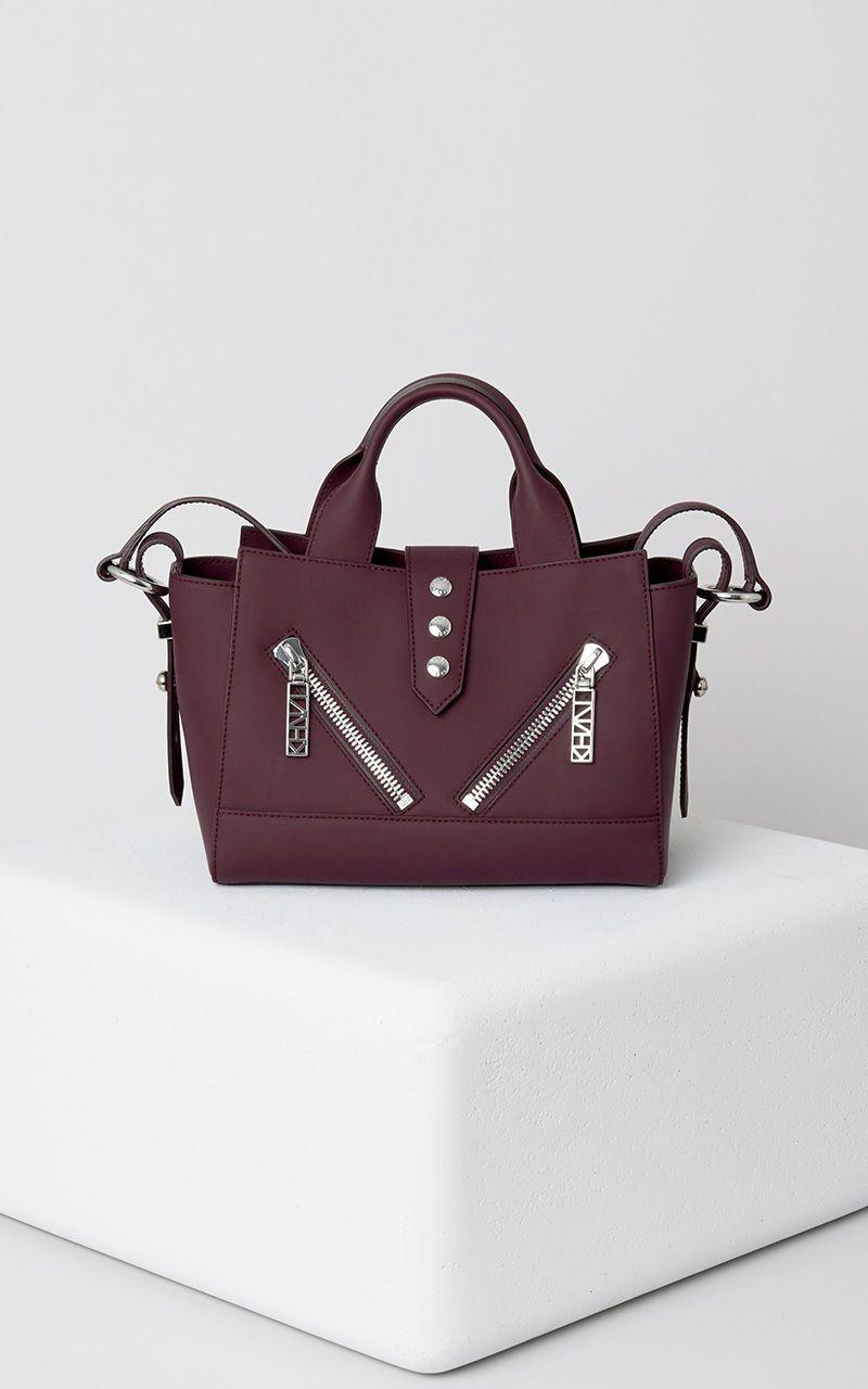 Mini Kalifornia Gommato Leather, PRUNE, KENZO