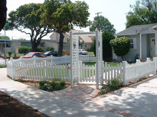 picket fence gate with arbor. White Vinyl Gates | Picket Fence \u0026 Gate With Arbor