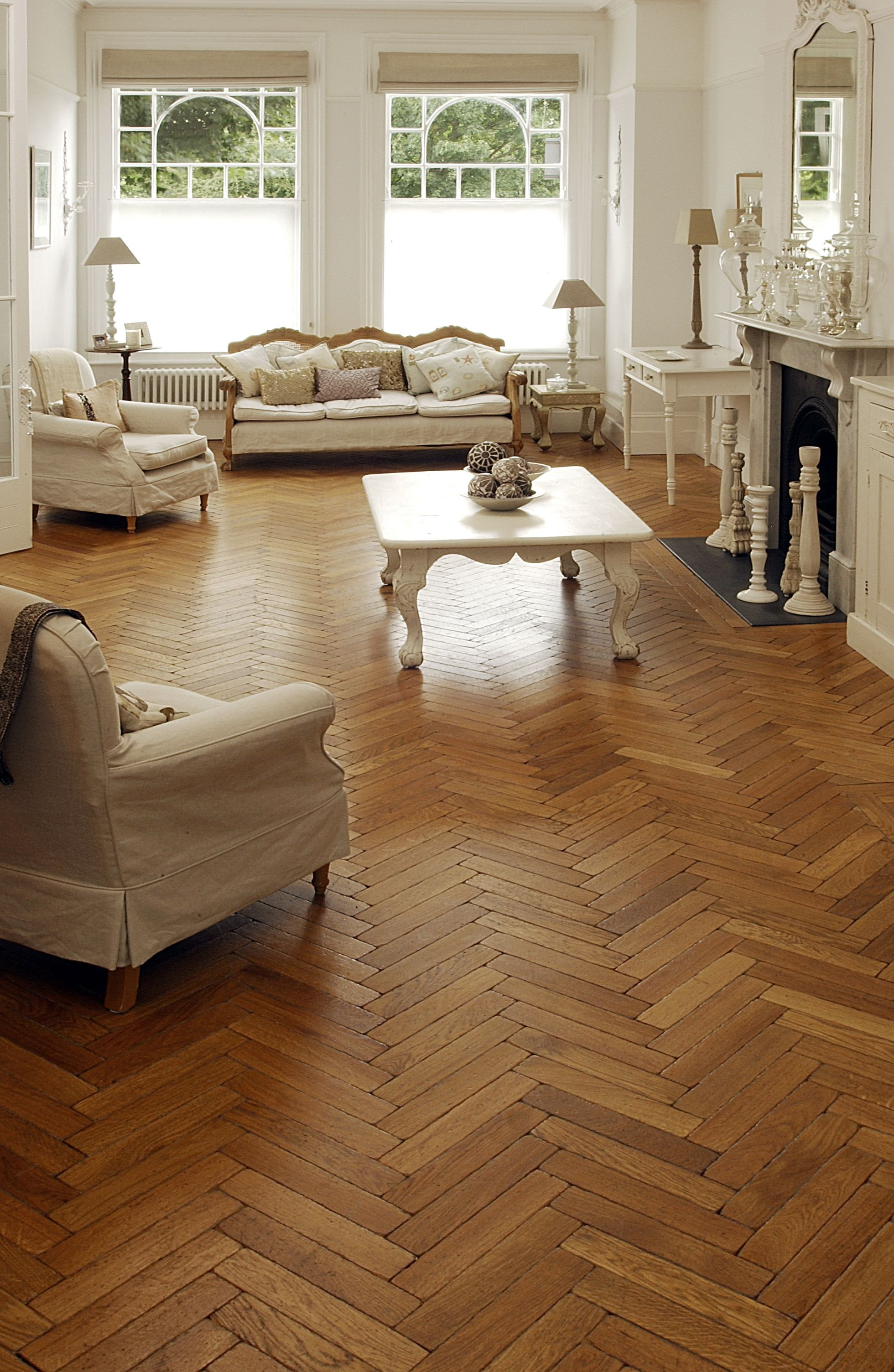 Oak aged parquet woodblocks love the mixture of tones and pattern parquet flooring the natural wood floor company london dailygadgetfo Choice Image