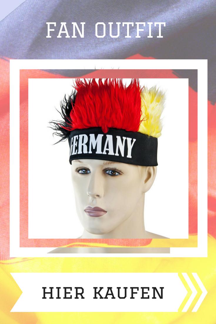 Fan Hut mit Bommeln Deutschland Flagge Fußball WM 2018 Mütze Fanmeile Karneval Fußball