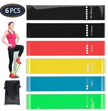 Set 11 PCS Bandas De Resistencia Para Ejercicios Kit De Bandas Elasticas Fitness