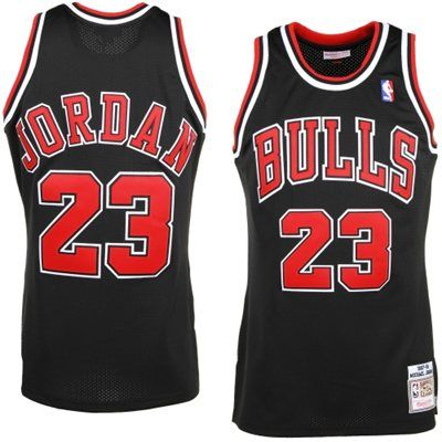 huge selection of e27c8 b15ec Mens Chicago Bulls Michael Jordan Mitchell & Ness Black '97 ...