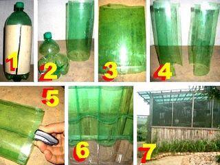 Techo hecho con botellas de pl sticos reciclaje - Techos de plastico ...