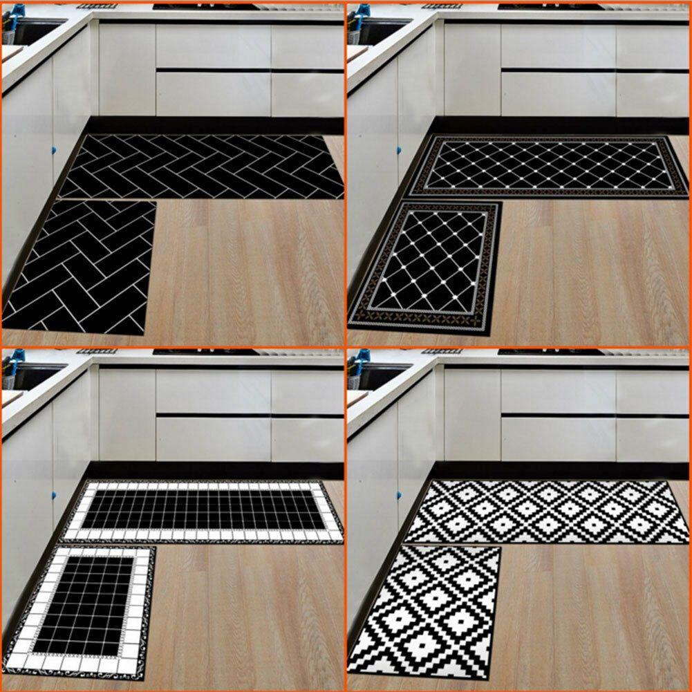 Details About 2 Pcs Set Bedroom Kitchen Floor Mat Non Slip Runner Anti Fatigue Rug Doormat Us Kitchen Mats Floor Modern Kitchen Mat Kitchen Flooring