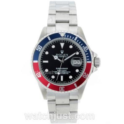 Rolex Submariner Automatic Blue/red Bezel With Black Dial Ro2079