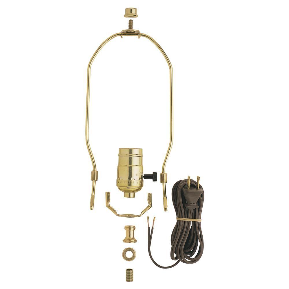Commercial Electric 3 Way Socket Lamp Kit Make A Lamp Diy Lamp Diy