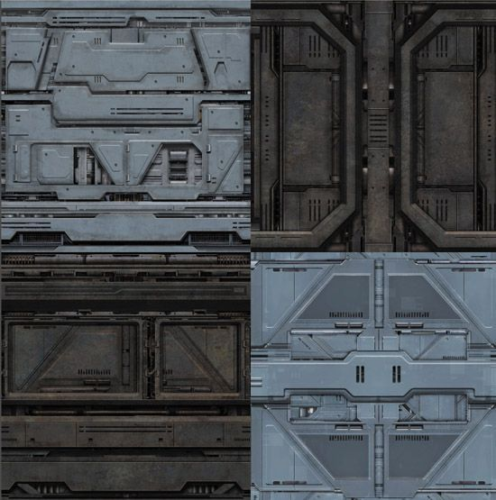 sci fi production design Each texture is provided in three