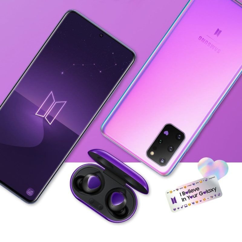 BTS Edition Samsung Galaxy S20+ And Galaxy Buds+ In India ...