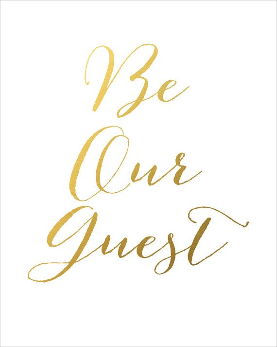 photo regarding Be Our Guest Printable named Be Our Visitor Printable Fast Down load Printable by means of