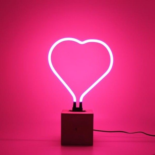 Neon Heart Lamp ($67) ❤ liked on Polyvore featuring home, lighting ...