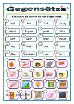 gegens228tze sprachen sprache deutsch und adjektive