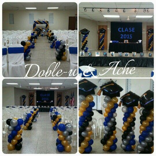Graduacion decoracion en globos graduacion pinterest for Decoracion de licenciatura